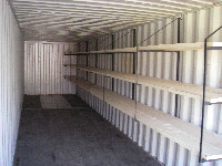 Container with shelves. & Container Shelving | Fortin Storage Containers Storage Trailers and ...